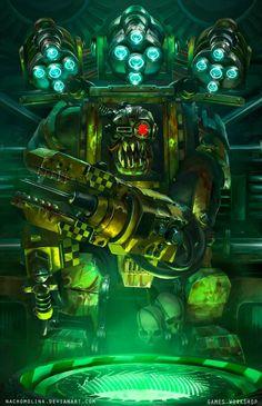 The Sci-Fi & Fantasy Art of Nacho Molina Warhammer 40k Art, Warhammer Fantasy, Orks 40k, Avatar, Alien Races, Space Wolves, Space Marine, Sci Fi Fantasy, Game Art