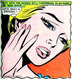 """Comic girls say.."""" He's only a dream"""" #Comic #Vintage #popart"""