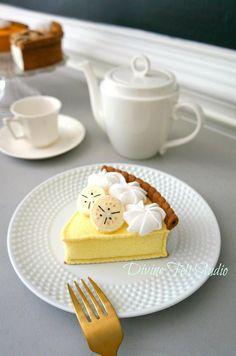 Felt Banana Cream Pie-Felt Food-Pretend Play