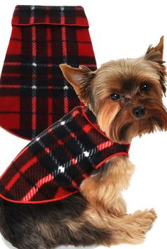 Cozy Holiday Classic Camel Blanket Red Plaid Fleece Pullover Tank