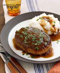 Biftecks Salisbury et sauce aux champignons #recette