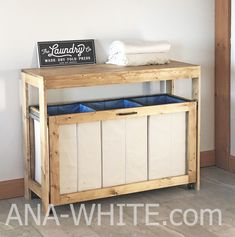 ana white Fold and sort laundry with this DIY laundry station. Free plans by Laundry Room Tables, Laundry Room Shelves, Small Laundry Rooms, Laundry Storage, Laundry Room Organization, Laundry Room Design, Organizing, Laundry Decor, Laundry Folding Station