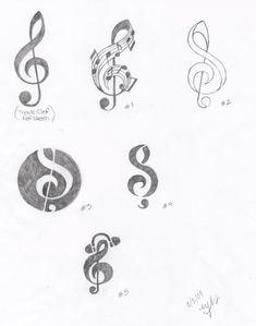 Treble Clef Logo Sketches by ~MelodyNieves on deviantART