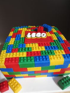 Lego Cake For more fun join us on Facebook - https://www.facebook.com/pages/Inspired-To-Celebrate/926705267347514