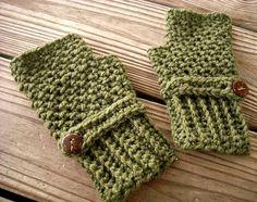 Hand Crocheted Fingerless Gloves Mittens  Fingerless by pixiebell, $40.00