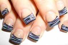 Striped French Tips