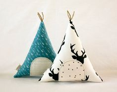 Tooth Fairy Teepee Stuffed Toy Pillow, Arrows, Deer Antler, Kids Room Decor, Decorative Pillow, Children, Keepsake, Tipi