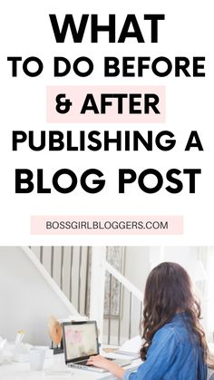 What to do before and after publishing a blog post. How to market your blog post after you publish it. What to include in every blog post. #bloggingtips #bloggingforbeginners #contentstrategy #contentcreation #contentmarketing
