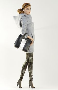 (FR2 body) inc. blouse, leggins, boots, purse.