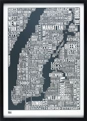 NYC Type Map - Bold and Noble