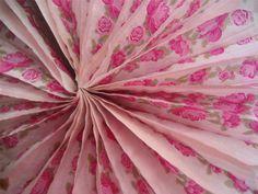 Tissue Paper Fans Set 8 Decoration Birthday Supplies Vintage Pink English Rose   eBay