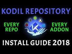KODIL REPOSITORY! HUGE AMOUNT OF ADDONS REPO'S & PROGRAMMES (KODI 2018) - YouTube