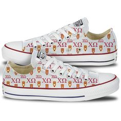 Chi Omega Converse Low Top Owl Pattern | Chi O Chucks – Tready Shoes