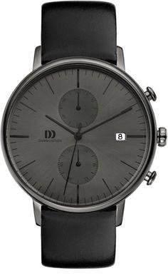 Danish Design Herren-Guarda IQ16Q975 analogico al quarzo in pelle IQ16Q975