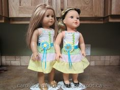 Carole's Corner of Crafts: American Girl Doll Tiered Dress Tutorial AG027
