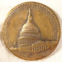 """1989 """"A Place Of Resounding Needs"""" Bronze Medal by Maco US Capitol Building"""