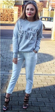 Sarah Ashcroft rocks the #ITSNostalgia 'Nothing to Wear' jumper from inthestyle.com