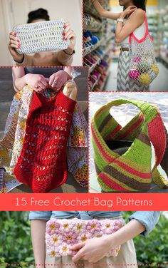 15 Free Crochet Bag Patterns