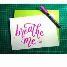 Sia is my fave. #design #lettering #typography