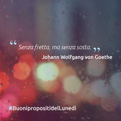 """""""Senza fretta ma senza sosta"""" Johann Wolfgang"""