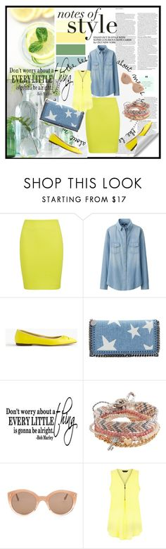 """""""Notes of style"""" by ivana-fashion ❤ liked on Polyvore featuring ASOS, McQ by Alexander McQueen, Uniqlo, J.Crew, STELLA McCARTNEY, Aéropostale and Illesteva"""