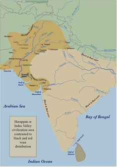 Indus Valley Civilization Historical Maps of Asia by John C. Huntington