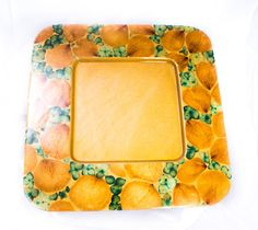 THE HOSTESS WITH THE MOSTESS  Wow your guests with this delicate square tray in light wood with real flower petals and leaves