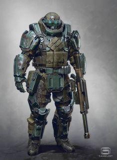 Sci Fi Rpg, Sci Fi Armor, Combat Armor, Arte Cyberpunk, Futuristic Armour, Cyberpunk Character, Future Soldier, Armor Concept, Suit Of Armor