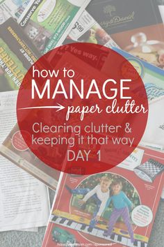 Oh, my did I need this! We've got piles all over the house, but with just four words, we're starting to change that AND maintain it! I love this so much becau...