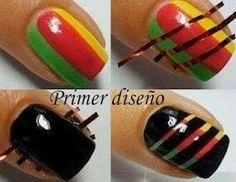 solo un diseño de uñas