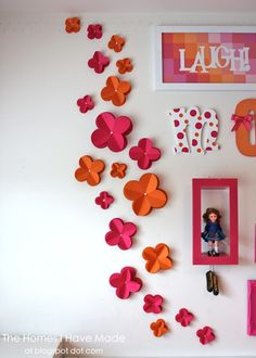 The Homes I Have Made: 3D Paper Wall Flowers