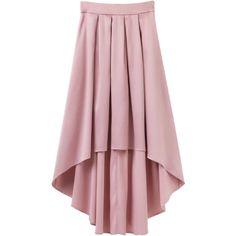 Bowknot Asymmetrical Skirt Light Pink (1.905 RUB) ? liked on Polyvore featuring skirts  sc 1 st  Pinterest & Pink High Low Skirt With Bow Tie (1110 DOP) ? liked on Polyvore ... azcodes.com