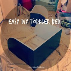 Easy DIY Toddler Bed // inthemamahood.com