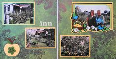 Naples, Italy travel scrapbook 2 page layout of the ruins of an inn at Herculaneum with an apple and an apple border from Disney Happily Ever After - from Travel Album 11