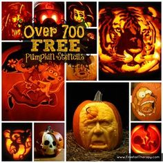 Over 700 FREE Pumpkin Carving Stencils!