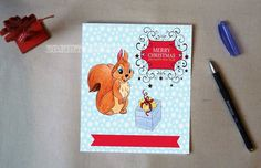 Christmas Card, Greeting Card, Digital Card, Handmade Card, Holiday Card by BrightStickers on Etsy
