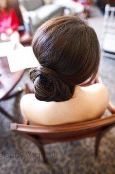 Chignon style idea {Grit + Gold LLC} #hairstyles #weddings