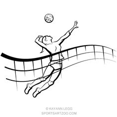 Female Volleyball Spike with Flowing Net Spike Volleyball, Female Volleyball Players, Volleyball Quotes, Women Volleyball, Beach Volleyball, Volleyball Drawing, Volleyball Silhouette, Volleyball Photography, Volleyball Backgrounds
