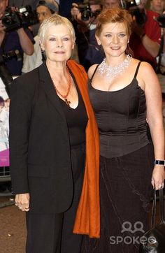 Judi Dench and her daughter