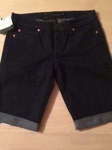 Calvin Klein Luxurious Dark Stretch Women's Cuffed Shorts Size 28 New $49   eBay