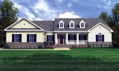 Ranch style house plans offer complete functionality on level that no other house offers. Whether a growing family or for folks who have limited mobilility, ranch homes offer both comfort and versatility. You can find amazing ranch house plans online too. Southern House Plans, Family House Plans, Country Style House Plans, Ranch House Plans, Bedroom House Plans, Country Style Homes, New House Plans, Small House Plans, House Floor Plans