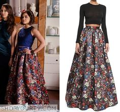 Pretty Little Liars: Season 6 Episode 9 Aria's Floral Pleated Skirt