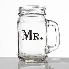 Mr Mason Jar mug http://www.wedding-giftsonline.co.uk/mr-mason-jar-mug-3921-p.asp