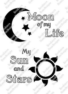 Game of Thrones - Moon of my Life My Sun and Stars Dothraki Design - Digital Cut File - INSTANT DOWNLOAD for silhouette, png, pdf & svg by BeesKneesHomeDesigns on Etsy