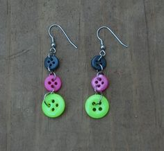 Button Earrings: on my to do list!!!