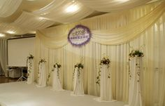 wedding pipe and drape in different color for different atmosphere