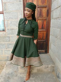 ¥]»»€<$««] South African Dresses, Latest African Fashion Dresses, African Dresses For Women, African Print Fashion, African Attire, Xhosa Attire, Sotho Traditional Dresses, South African Traditional Dresses, African Print Dress Designs