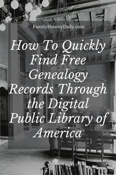 Wouldn't it be wonderful if there was an online research site that allowed you to easily search for records about your ancestors from repositories across the USA? One that linked to actual records that you could view online? Wouldn't it be even more wonderful if that site was completely free for anyone to use? Free Genealogy Records, Free Genealogy Sites, Library Of America, Digital, Usa, Search, Crafts, Manualidades, Searching