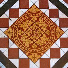Chancel Floor Tiles, All Saints, Marlows, via Flickr.