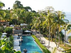 This 40-acre hillside hideaway—set within a rain forest of bamboo and banana trees on Phuket—has 39 waterfront villas and rooms, all with commanding Andaman Sea views from the bed, the sunken bath, and each villa's infinity pool. Among the spacious spa, water sports, tennis, and nearby golf courses, there's plenty to do, but villa dwellers will find their desires met within their nearly 2,600-square-foot personal oasis, thanks to wireless Internet access, spectacular scenery, and a…
